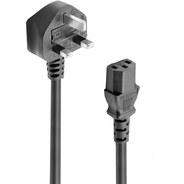 Generic  1.2 Meter Mains Lead Moulded Plugs - PC / Kettle IEC C13 Type Fitting
