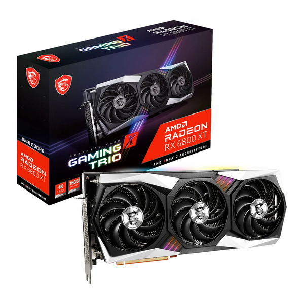 MSI  AMD Radeon RX 6800 XT Gaming X Trio 16GB Graphics Card * maximum one per customer / household * call for availability *