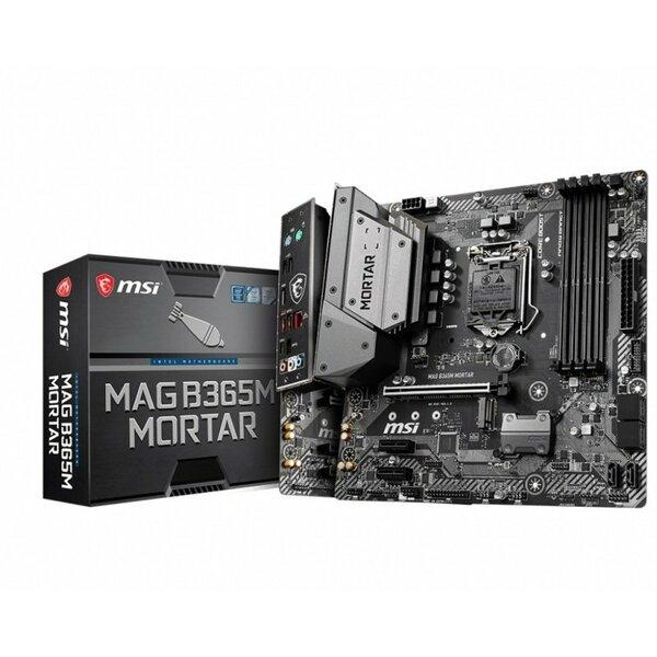 MSI  Intel B365M MORTAR Coffee Lake Micro ATX Motherboard - Coffeelake CPUs only