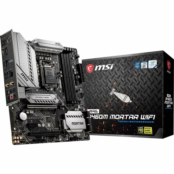 MSI  Intel B460M MORTAR Wifi Intel Socket 1200 Micro ATX Motherboard