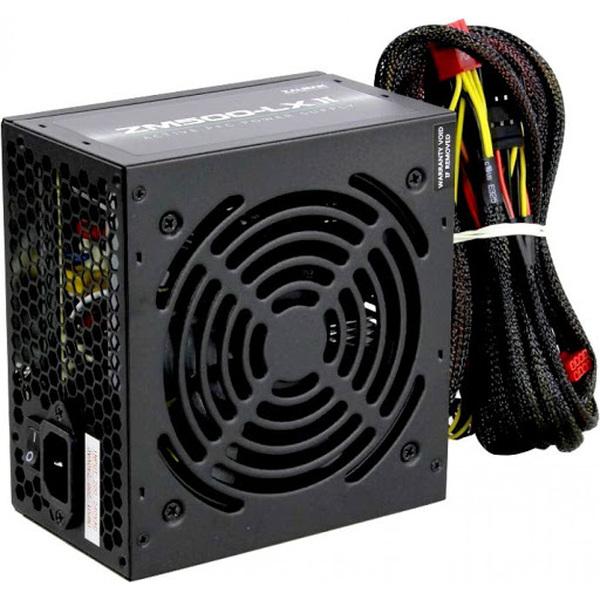 Zalman  500W ATX Standard Power Supply - MegaMax - White Rated, Single Rail, 38A, 120mm Fan