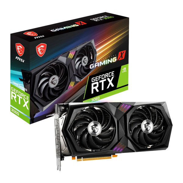MSI  Geforce RTX 3060 GAMING X 12GB GDDR6x Ampere Graphics Card  *** Maximum 1 card  per customer / household ***