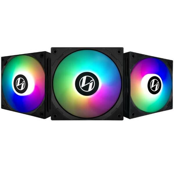 Lian Li  ST120 Addressable RGB 120mm Black Fan With Controller - Triple Pack