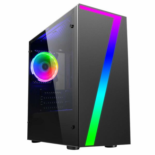Falcon ORD152941 Gaming PC, Intel I5 4690, 8GB DDR3, 120Gb SSD, 2TB HDD, GTX 1050 Ti,  Windows 10 Pro