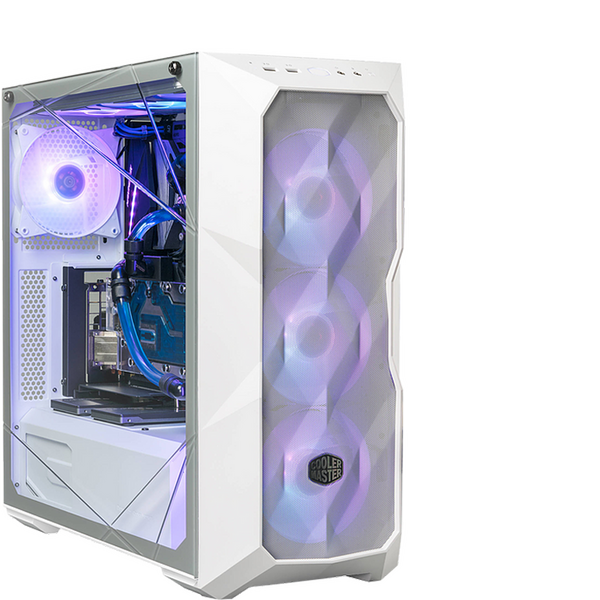 Coolermaster  MasterBox TD500 Mesh white- ARGB Mesh, 3 x 120mm Fans, Crystalline Glass Pannel, White Edition
