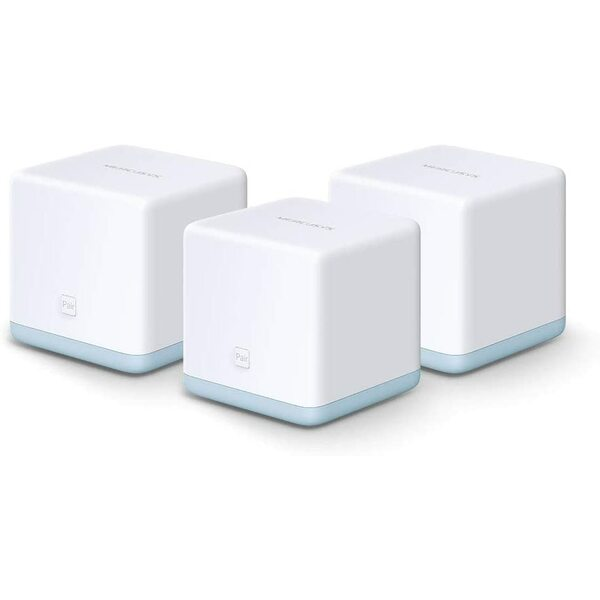Mercusys  (HALO S12) Whole-Home Mesh Wi-Fi System, 3 Pack, Dual Band AC1200, 2 x LAN on each Unit