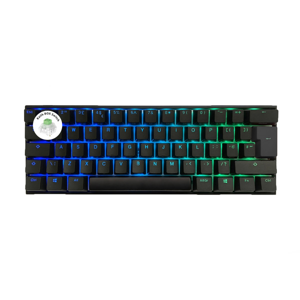 Ducky  One2 Mini 60% RGB USB Mechanical Gaming Keyboard Kailh BOX Jade Switch UK Layout