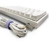 Ducky  One2 Mini 60% RGB USB Mechanical Gaming Keyboard Kailh BOX Silent Pink Switch UK Layout - White Image