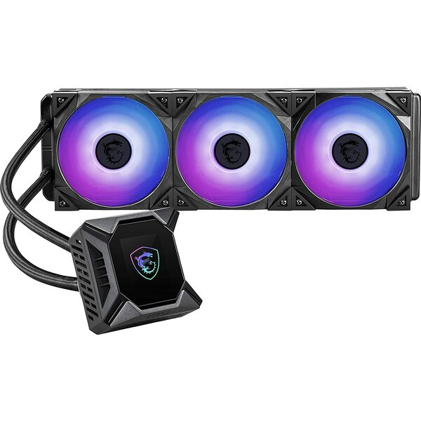MSI 9S6-6A0321-016 CORELIQUID K360 360mm AIO CPU Cooler with LCD and Torx ARGB Cooling