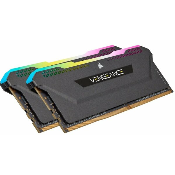 Corsair CMH32GX4M2Z3600C18 32GB Corsair Vengeance RGB Pro SL Memory Kit (2 x 16GB), DDR4, 3600MHz  (PC4-25600), C16, XMP 2.0, Black
