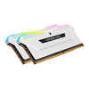 Corsair CMH32GX4M2E3200C16W 32Gb Corsair Vengeance RGB Pro SL Memory Kit (2 X 16Gb), DDR4, 3200Mhz, White Edition Image