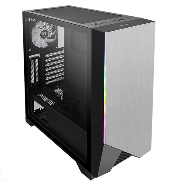 Thermaltake CA-1P4-00M1WN-00 H550 ARGB, Mid Tower Chassis w/ Tempered Glass Window, 1x 120mm ARGB Fan - Clearance - REDUCED