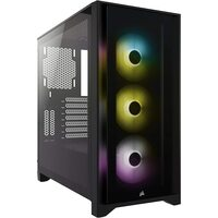 Corsair CC-9011204-WW iCUE iCUE 4000X RGB Mid Tower Gaming Case - USB 3.0 - Black