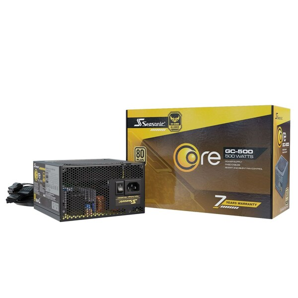 Seasonic  500W Core Gold GC 500W 80+ Gold PSU/Power Supply