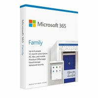 Microsoft  Microsoft office 365 Family Medialess 1 Year Subscription 6 Users