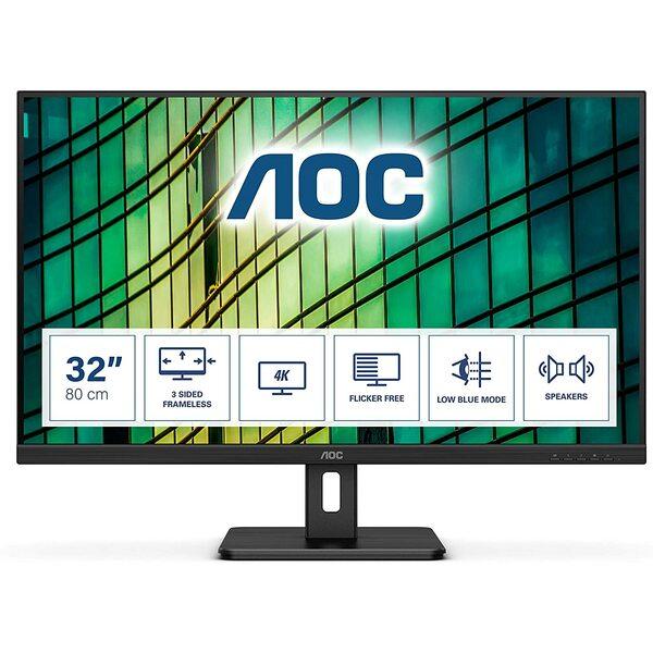 Aoc  32 Inch 4K UHD Monitor, 60Hz, 4ms, VA, Speakers
