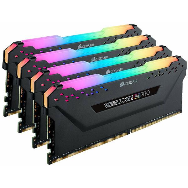 Corsair CMW64GX4M4E3200C16 64Gb Corsair Vengeance RGB Pro Memory Kit (4 X 16Gb), DDR4, 3200Mhz, CL16
