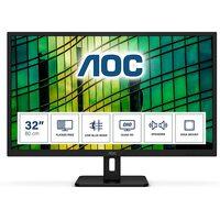 AOC  31.5 Inch QHD Monitor, 75Hz, 4ms, IPS, Speakers, FlickerFree, LowBlue Light (2560x1440 @ 75hz) - HDMI / Display Port
