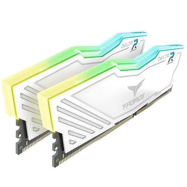 Team Group  T-Force Delta RGB 16GB (2x 8GB) 3600MHz DDR4 RAM - White