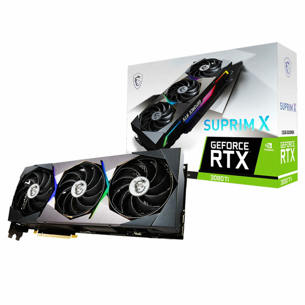 MSI NVIDIA GeForce RTX 3080 Ti SUPRIM X 12GB GDDR6X Ray-Tracing Graphics Card - Special Offer