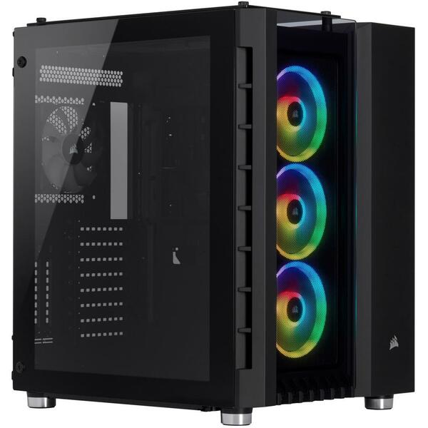 Corsair  Crystal Series 680X RGB High Airflow Tempered Glass ATX Smart Gaming Case - Bl
