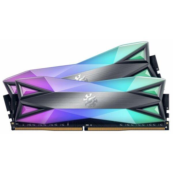 XPG  32GB (2 x 16GB), DDR4, 3600MHz (PC4-28800), CL18, XMP 2.0, DIMM Memory, spectrix - Tungston grey