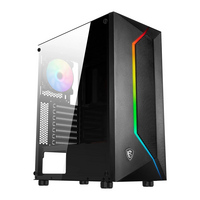 MSI  MAG VAMPIRIC 100R Mid Tower Gaming Computer Case - Black