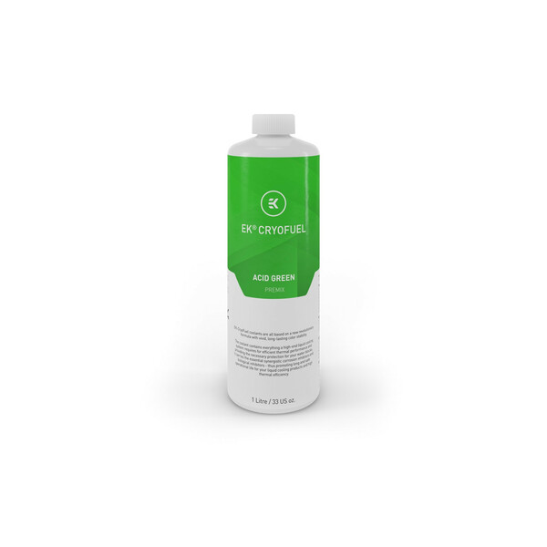 EK  Ek-Cryofuel Transparent Acid Green 1L Premix Watercooling Fluid - 1 Litre
