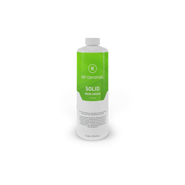 EK  Ek-Cryofuel solid Neon Green - 1L Premix Watercooling Fluid - 1 Litre