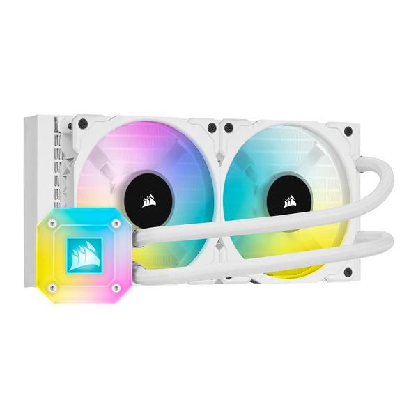 Corsair  iCUE H100i ELITE CAPELLIX 240mm RGB Liquid CPU Cooler, 2 x 12cm ML120 RGB PWM Fans