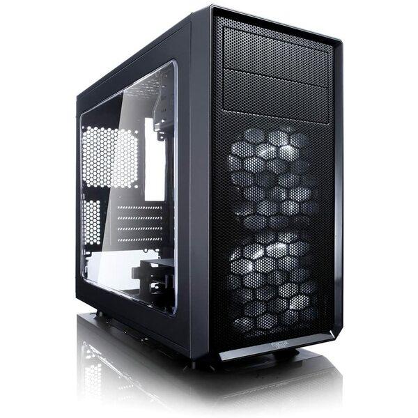 Fractal Designs  Focus Mini G - Micro ATX Tower - 2x Silent LL Series 120mm White Fans, USB3, Black
