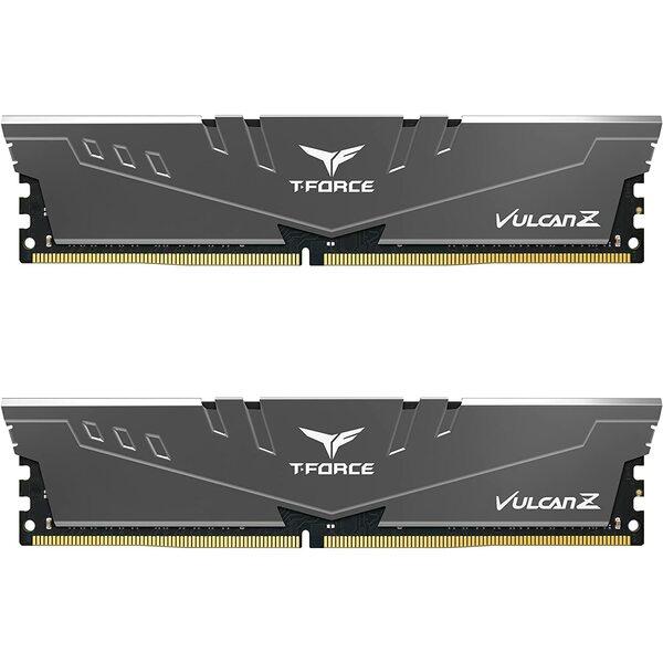 Team Group  T-Force Vulcan Z DDR4 16GB Kit (2x8GB) 3200MHz (PC4-25600) CL18 Desktop Memory - Grey