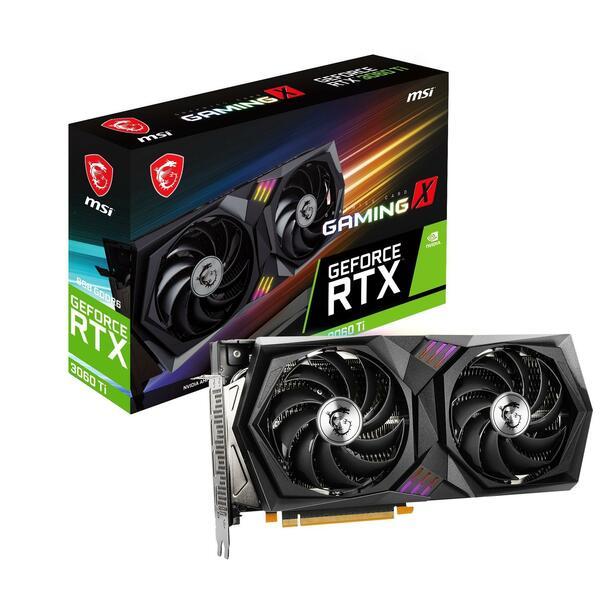 MSI  Geforce RTX 3060 Ti GAMING X 8GB GDDR6x PCI-Express Graphics Card LHR